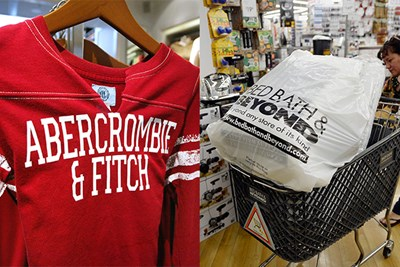 Abercrombie & Fitch and Bed Bath & Beyond