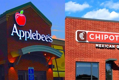 applebees and chipotle store front