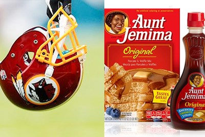 football helmet and breakfast food