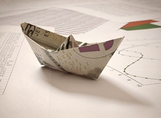Origami Money Boat