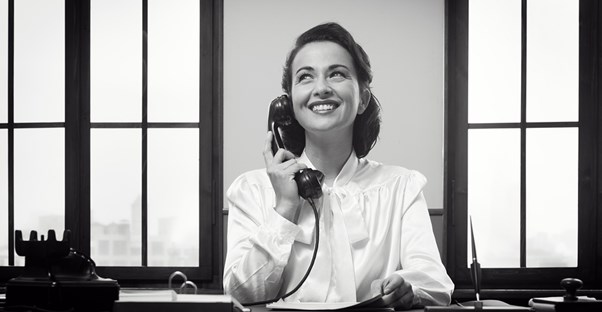 Woman working as a receptionist