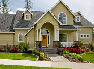 A Home protected with Homeowners insurance