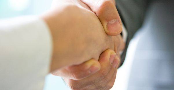 Shaking hands after making a deal for a cd annuity