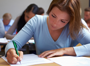 Student preparing for college