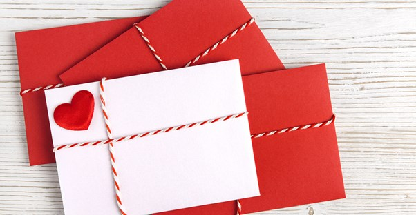 Stack of Christmas Cards in envelopes