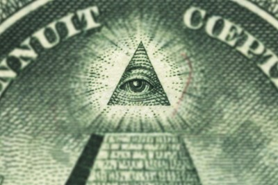 a closeup of the eye of providence