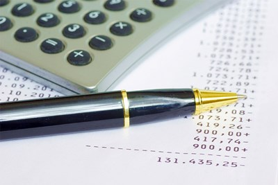 Calculator and printout of loan calculations