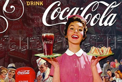 coca cola in the 1950s