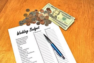 wedding budget list