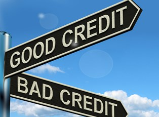 Signpost to show the way to good credit