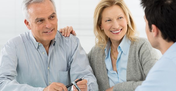Couple planning for their impending retirement