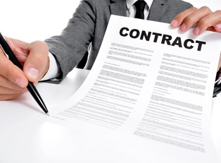 Contract for a small business loan