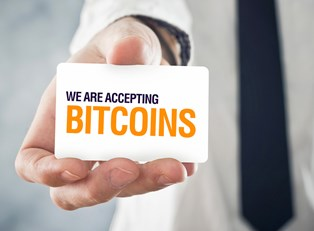 Business that accepts bitcoins