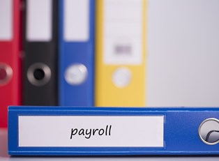 A blue binder makes payroll seem like a breeze