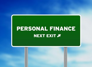 Exit sign for the direction of personal finance software