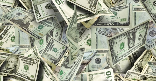 A pile of money earned by creating a high yield certificate of deposit