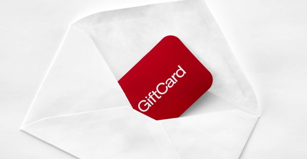 Gift card in an envelope