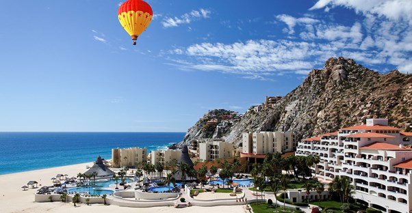 A landscape picture of a resort that offers timeshares