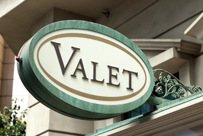 Sign for valet parking